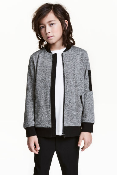 Bomber jacket - Grey marl -  | H&M 1