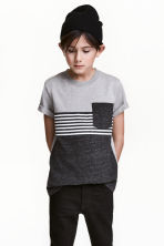 Printed T-shirt - Dark grey -  | H&M 1