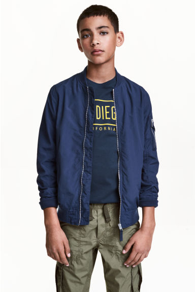 Bomber jacket - Dark blue - Kids | H&M 1