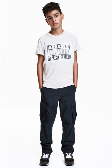 Cargo trousers - Dark blue - Kids | H&M CN 1