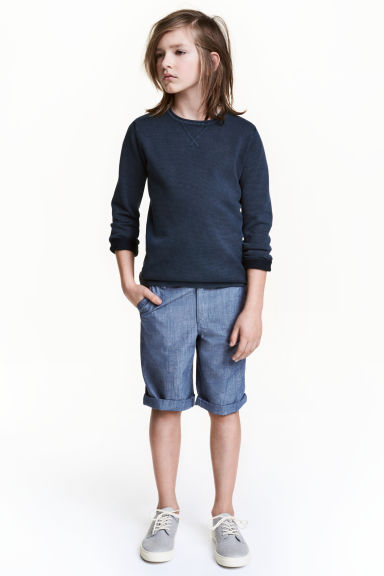 Chino shorts - Blue/Chambray - Kids | H&M CN 1