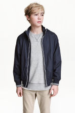 Jersey-lined nylon jacket - Dark blue - Kids | H&M 1