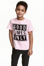 Printed T-shirt - Light pink -  | H&M CN 1