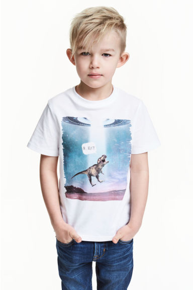 T-shirt con stampa - Bianco/dinosauro -  | H&M IT 1