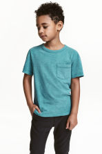 T-shirt in jersey flammé - Turchese scuro - BAMBINO | H&M IT 1