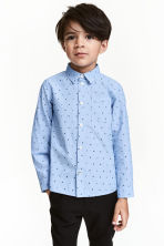 Patterned shirt - Light blue -  | H&M CN 1