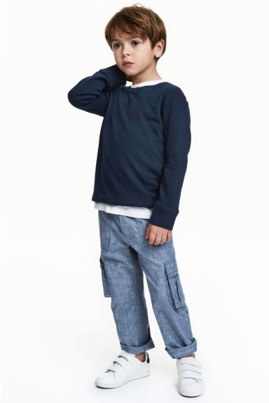 Pantalon cargo retroussable - Bleu denim - ENFANT | H&M CH 1