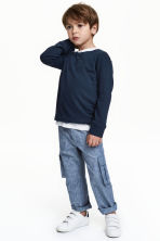 Roll-up cargo trousers - Denim blue - Kids | H&M 1