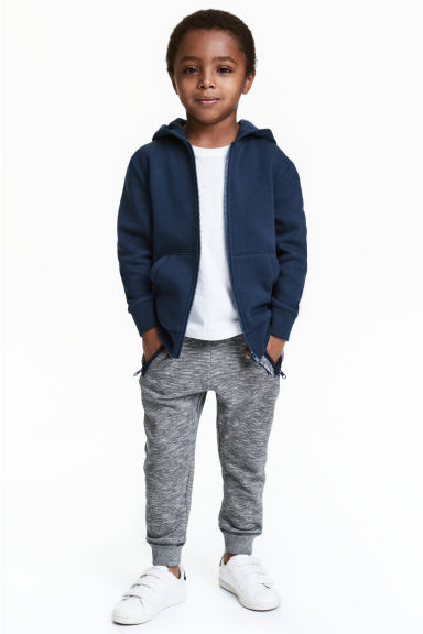 Joggers - Dark blue/Narrow striped - Kids | H&M 1