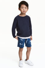 Sweatshirt shorts - Blue/Dinosaur -  | H&M 1
