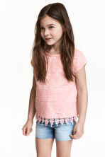 Top with lace - Light pink - Kids | H&M CN 1