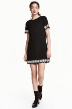 Short-sleeved dress - Black - Ladies | H&M CN 1