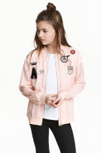 Satin bomber jacket - Powder pink - Kids | H&M 1
