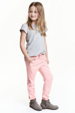 Pull-on trousers - Light pink - Kids | H&M 1