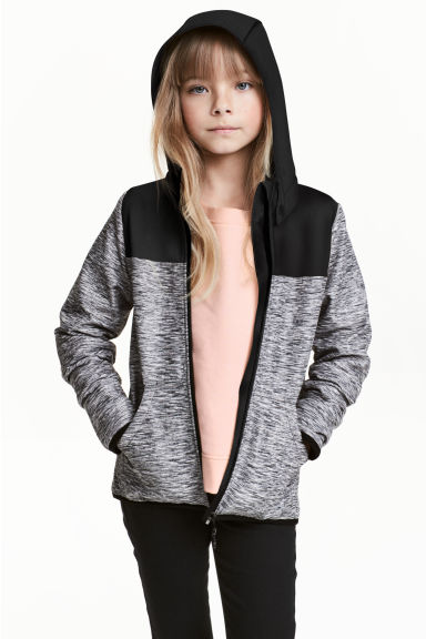 Softshell jacket - Dark grey marl -  | H&M