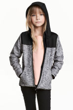 Softshell jacket - Dark grey marl - Kids | H&M CN 1