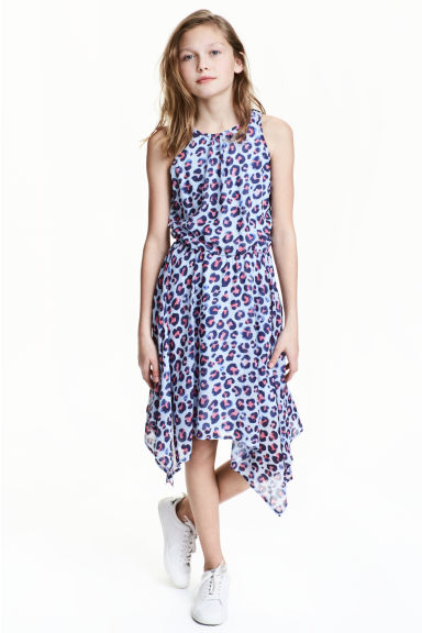 Sleeveless dress - Light blue/Patterned -  | H&M 1