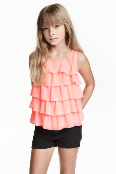 Tiered top - Coral pink - Kids | H&M CN 1