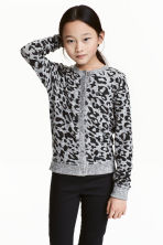 Fine-knit cardigan - Grey marl -  | H&M 1