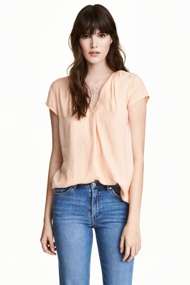 Top con scollo a V - Cipria -  | H&M IT