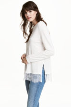 Top a maniche lunghe - Bianco - DONNA | H&M IT 1