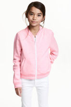 Sweat zippé - Rose chiné -  | H&M FR 1