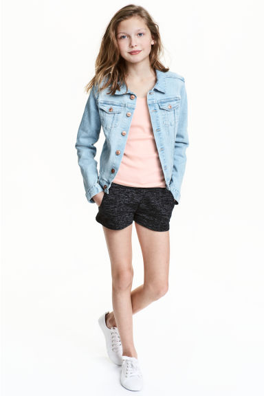 Jersey shorts - Black - Kids | H&M 1
