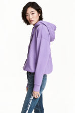 Hooded top - Purple marl - Ladies | H&M 1