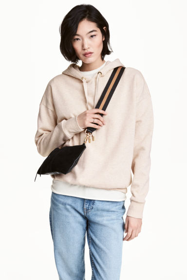 Hooded top - Light beige marl - Ladies | H&M 1