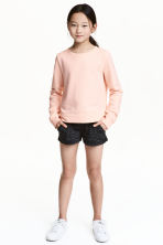 Jersey shorts - Black marl - Kids | H&M CN 1