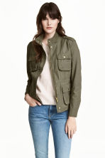 Utility jacket - Khaki green - Ladies | H&M GB 1