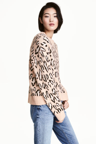 Jacquard-knit jumper - Leopard print - Ladies | H&M 1
