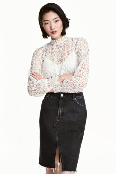 Lace blouse - White - Ladies | H&M 1