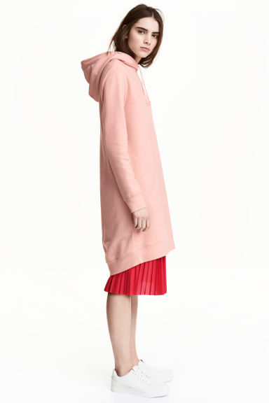 Hooded sweatshirt dress - Old rose - Ladies | H&M 1
