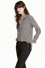 Long-sleeved blouse - Natural white/Striped - Ladies | H&M 1