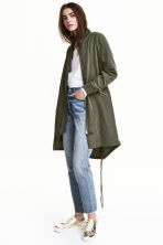 Modal-blend jacket - Khaki green - Ladies | H&M GB 1