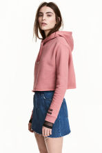 Cropped hooded top - Pink - Ladies | H&M CN 1