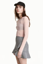 Long-sleeved mesh top - Light old rose - Ladies | H&M CN 1