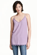 Top con pizzo - Lilla - DONNA | H&M IT 1