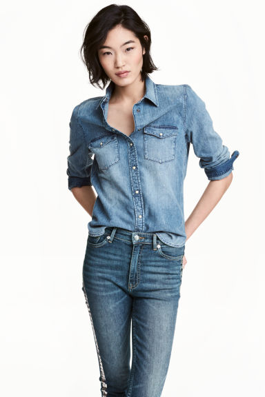 Denim shirt - Denim blue - Ladies | H&M 1