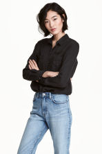 Lyocell utility shirt - Black - Ladies | H&M CA 1