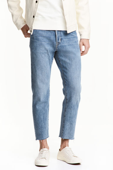 Relaxed Cropped Jeans - Light denim blue -  | H&M