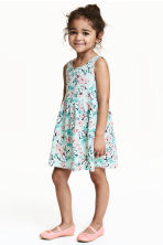 Patterned jersey dress - Mint green/Butterflies - Kids | H&M 1