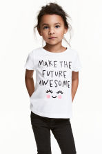 Printed top - White - Kids | H&M CN 1