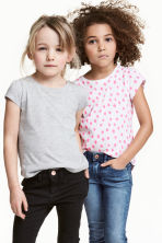 Set van 2 tricot tops - Wit/stippen -  | H&M NL 1