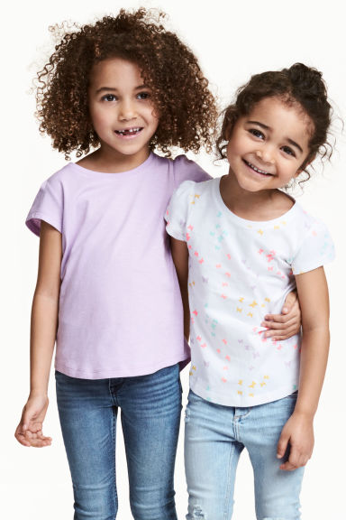 T-shirt in jersey, 2 pz - Lilla - BAMBINO | H&M IT