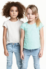 2-pack jersey tops - Mint green/Heart - Kids | H&M 1