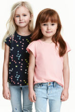 Lot de 2 tops en jersey - Rose clair -  | H&M FR 1
