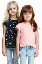 2-pack jersey tops - Light pink -  | H&M CN 2
