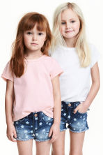 2-pack short-sleeved tops - Light pink -  | H&M CN 1